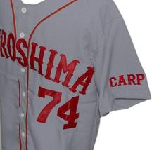 Alfonso Soriano Hiroshima Carp Retro Baseball Jersey Button Down Grey Any Size image 4