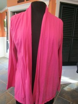 Talbots Bright Pink Fuschia Swing Wrap Jacket Size Large Worn 1X - $19.99