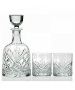 Waterford Woodmont Decanter and 2 DOF Glasses set new in Box # 1052759 - $248.24