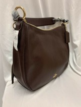 Coach Womens Polished Pebbled Oxblood  Leather Hobo Bag $325 - $125.13