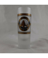 """Frosted Shot Glass San Francisco Golden Gate Bridge &  Cable Car 4"""" Tall - $8.90"""