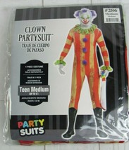 "Clown Party Suit Halloween Costume Teens Size Medium ""up to 5 foot tall"" - A3130 - $24.99"