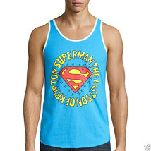 Superman Turquoise Tank Top Size S, M, XL, 2XL New - $11.99