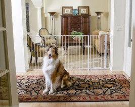 Maxi Extra Tall Dogs Gate Pets Cat Walk Thru Baby Safety Fence Large Eas... - $91.57