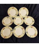 "Set of 8 Homecraft by Noritake Ireland Summer Estate 8 1/2"" Salad Plates... - $47.69"