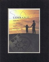 Spanish - Liderazgo . . . 8 x 10 Inches Biblical/Religious Verses set in Double  - $11.14