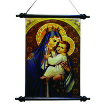 PTC 18 Inch Our Lady of Mount Carmel Religious Hanging Wall Art Scroll - $21.77