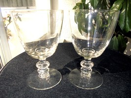 "Set of 2 Clear Wine Glasses 5 1/2"" Tall - $23.75"