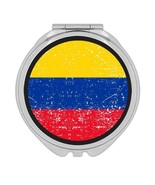 Colombia : Gift Compact Mirror Flag Retro Artistic Colombian Expat Country - £9.44 GBP