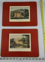 Set Of 6  Pimpernel Hard Cork Backed Placemats Castle Collection Ships F... - $49.99