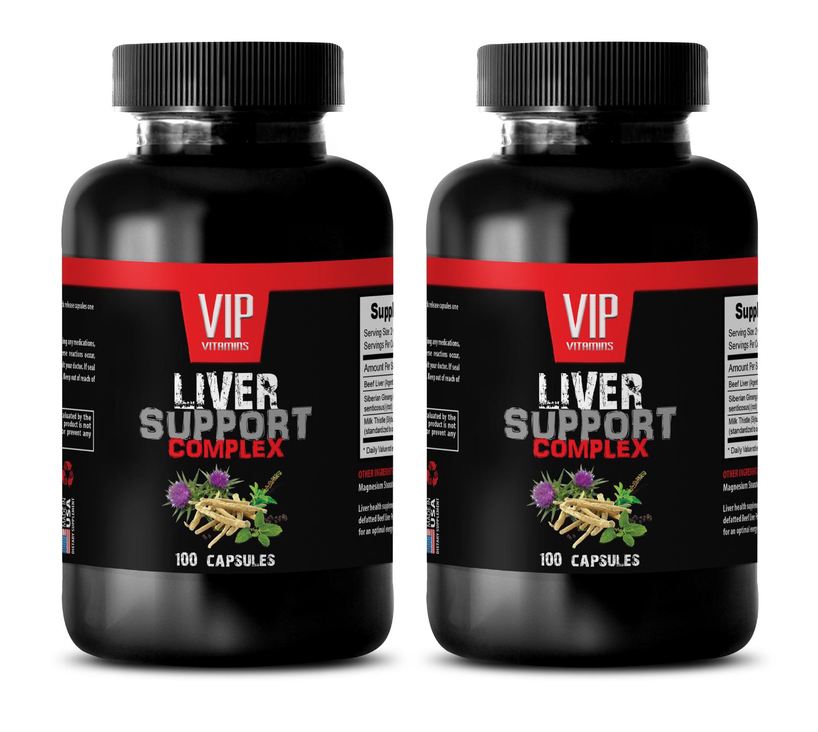 immune support formula - LIVER COMPLEX 1200MG - milk thistle raw herb - 2 Bottle - $28.01