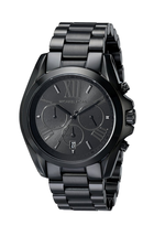 New Michael Kors Bradshaw Black Chronograph Stainless Steel MK5550 Women... - $108.85