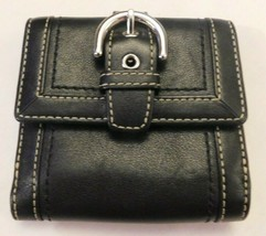 Coach Black Buckle Small Wallet - $33.25