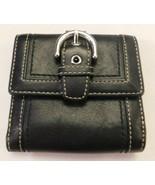 Coach Black Buckle Small Wallet - $33.25