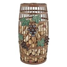Wine Cork Holder, Grapevine Iron Barrel Decorative Metal Rustic Cork Hol... - $44.99