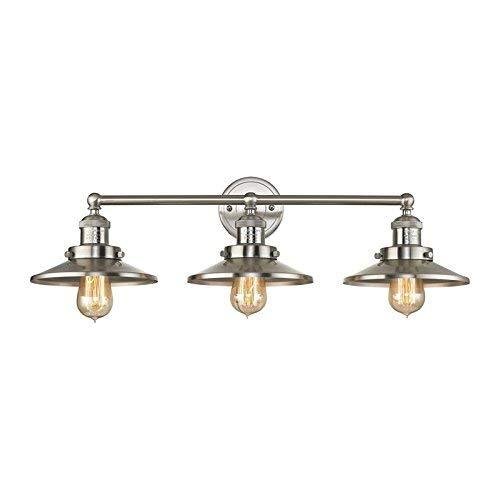 Elk Lighting 67172/3 Vanity-Lighting-fixtures, Nickel