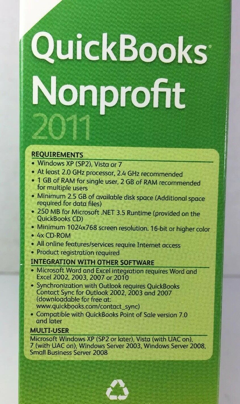 Quickbooks Premier Industry Edition Nonprofit 2011 Windows 7, Vista, XP image 4