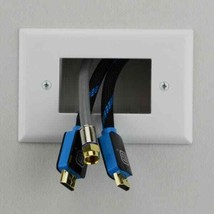 Commercial Electric Low Voltage Recessed Cable Plate (Lot of 3) 640816 W... - $19.79