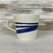 "Royal Doulton 'Pacific"" Porcelain Coffee Tea Cup Mug Blue Stripe Replace... - $11.63"