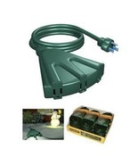 STANLEY 3-OUTLET FAN TYPE POWERBLOCK OUTDOOR EXTENSION CORDS (as) Power ... - $118.79
