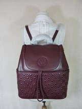 NWT Tory Burch Deep Berry Leather Marion Quilted Backpack - $493.01