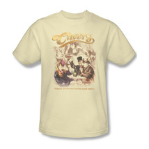 Cheers T-shirt Fee Shipping 1980's retro distressed cotton beige tee cbs1228 image 2
