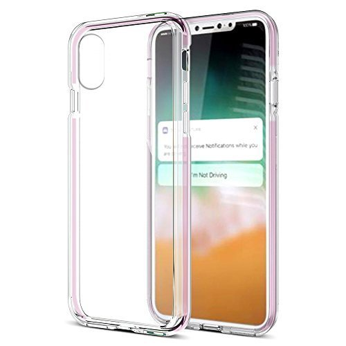 iPhone X Case, Hybrid Scratch Resitant Shock Absorption TPU Case with Bumper