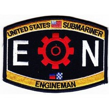 "NAVY EN ENGINEERMAN RATING ENGINEMAN EMBROIDERED 4.5"" PATCH - $23.74"