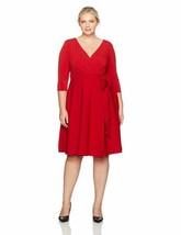 Sangria Women'S Plus Size Long Sleeve Wrap Dress - $85.07+
