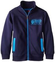 Boy's 8-20 Zip Front Jacket Athletic IZOD Licensed NEW Navy Peacoat