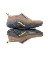 Merrell Bracken mocs brown leather clog loafer mule 8.5 wmns nubuck slip... - $26.62