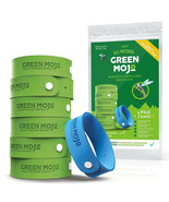 Green Mojo Natural Mosquito Repellent Bracelets 6 Green 1 Blue DEET-Free... - $8.73