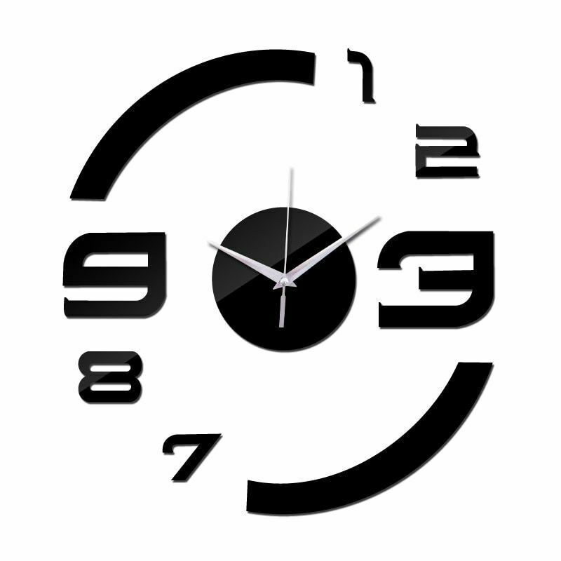 Primary image for Modern Acrylic DIY Wall Clock Luxury Black Clocks Creative Home Decor Gift Reloj