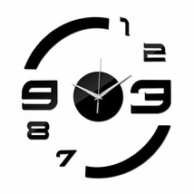 Modern Acrylic DIY Wall Clock Luxury Black Clocks Creative Home Decor Gi... - $18.77