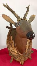 Antique 1900 Black Forest Hand Carved Wood German hunting deco design bauhaus image 4