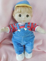 1985 MY CHILD DOLL  Brown Hair, Brown Eyes Original Overall Outfit & Shoes VGC - $148.50