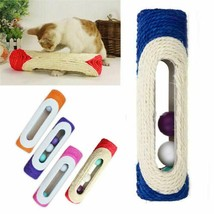 Pet Cat Kitten Rolling Sisal Scratching Post with 3 Trapped Balls Toy Sc... - £4.98 GBP