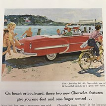 On Beach or Boulevard Vintage Print Ad 1953 Chevrolet Bel Air Convertible