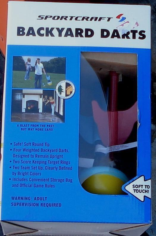 Sportcraft Backyard Darts Game  - BRAND NEW IN BOX - INDOOR OR OUTDOOR PLAY