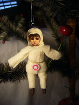 Vintage Spun Christmas Baby Boy Ornament no. CH78 image 2