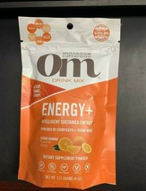 Om Organic Mushroom Energy + Mushroom Superfood Drink Mix Citrus Orange ... - $20.99