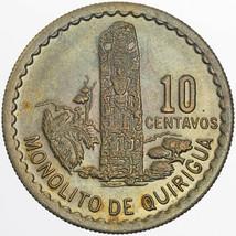 1976 GUATEMALA 10 CENTAVOS UNC WONDERFUL DEEP MULTI COLOR TONED BU CHOIC... - $197.99