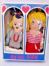 VINTAGE TINY TWINS GO-GO KIDS DOLLS IN BOX KNICKERBOCKER 1960S' JAPAN - $18.00