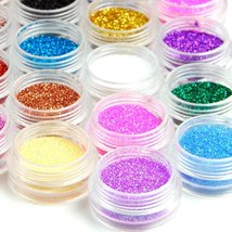 45 Colors Eyeshadow Makeup Nail Art Pigment Glitter Dust Powder Set image 3