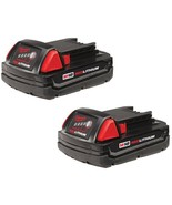 Milwaukee Power Tool Battery 1.5 Ah 18-Volt Lithium-Ion Rechargeable (2-... - $124.95