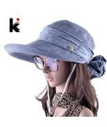 Sun Hats Face Neck Protection Sombreros Mujer Verano Wide Brim Visor Caps - $16.35