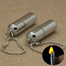 Keychain Waterproof Fire Starter Capsule Oil Gas Lighter image 4