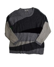 Vince Camuto Colorblocked Sweater Grey X-Large - $38.61