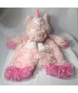Baby Ganz Plush Sweet Iris Unicorn Flat A Pat Lovey Security Blanket Hor... - $12.86