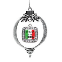 Inspired Silver Proud to be Italian Classic Holiday Decoration Christmas Tree Or - $14.69